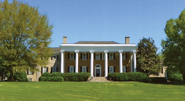"A panoramic view of historic ""Carter Hall,"" once the home of Robert ""King"" Carter, the richest man in colonial America (Courtesy of Project Hope)"