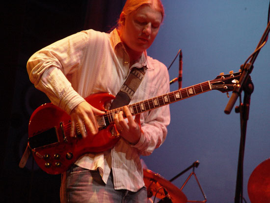 Derek Trucks masters another solo (Photo courtesy Derek Trucks)