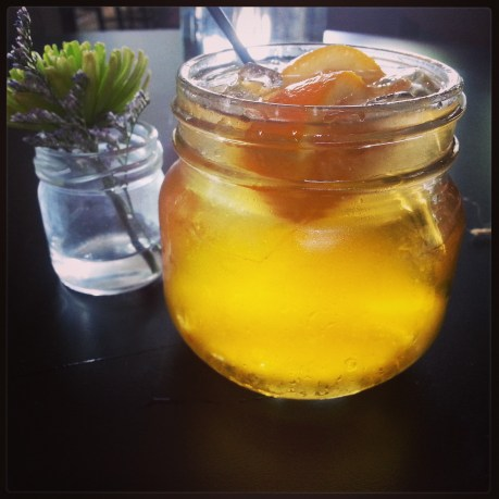 The Big Early at Hillbilly Tea infuses moonshine with Earl Grey tea. Photo courtesy Kelly Magyarics.