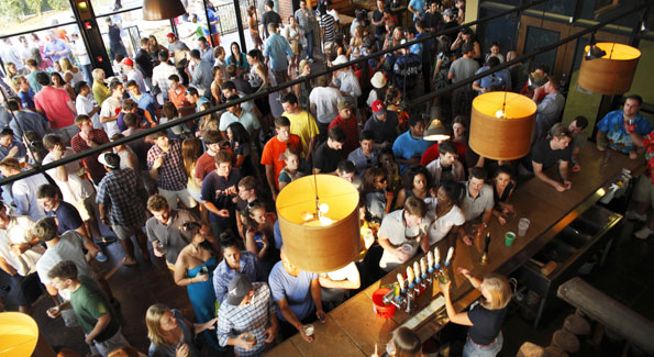SweetWater's Tasting Room is a popular destination on the brewery tour. (Courtesy photo)