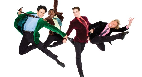 Chong Sun, Andile Ndlovu, Jonathan Jordan and Jared Nelson in British Invasion. Photo by Tony Brown.