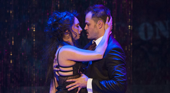 Natascia Diaz and Mitchell Jarvis in Signature's 'Threepenny Opera' (Photo by Margaret Shulman)