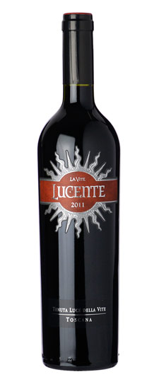 Lucente is Montalcino's first ever Sangiovese and Merlot blend. Photo courtesy of Lucente.