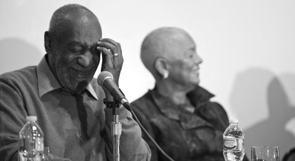 Bill and Camille Cosby at a press conference unveiling 62 pieces from their personal collection on loan at Smithsonian's National Museum of African Art (Photo by Cecilie Olaussen)