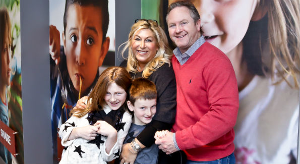 Isley, Benji, Shari and Jason Gold at the Share our Strength's holiday cookie decorating event. (Photo by Tony Powell)