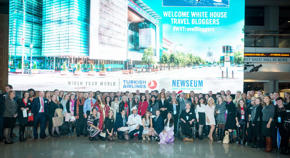 White House Travel Bloggers at the Newseum (Photo: Jack Conroy for Turkish Airlines)