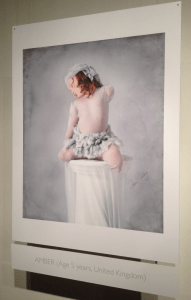 Portrait of Amber, age five by Anne Geddes. (Photo by Erica Moody)