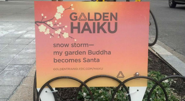 The winning haiku (Photo courtesy Golden Triangle BID Facebook page)