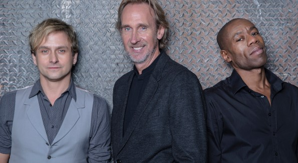 Mike and the Mechanics play the Birchmere February 28th (L to R: Tim Howar, Mike Rutherford, Andrew Roachford; photo courtesy Mike Rutherford)