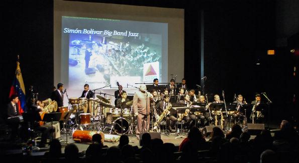 Simon Bolivar Big Band Jazz at Artisphere Spectrum Theatre (Photo courtesy Venezuelan embassy in D.C.)