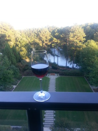 Enjoy wine at the hotel bar, or grab a glass of wine on your balcony. Photo courtesy of Kelly Magyarics.