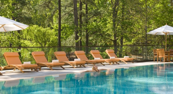 Lounging around the seasonal pool is a great way to spend the afternoon. Photo courtesy of The Umstead.