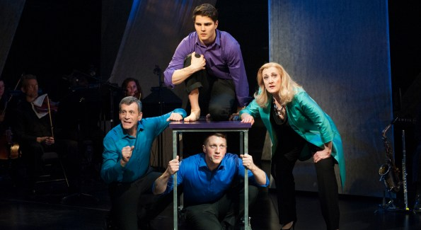 Clockwise from the left: Bobby Smith, Austin Colby,Donna Migliaccio and Paul Scanlan in Simply Sondheim at Signature Theatre. (Photo by Margot Schulman)