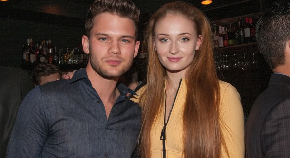 Actors Jeremy Irvine and Sophie Turner   (Photo by Teresa Kroeger/Getty Images for Eric Podwall)