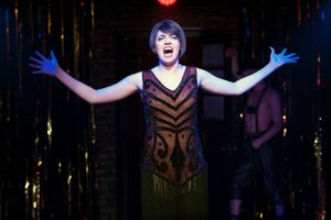 Barrett Wilbert Weed (Sally) in Cabaret at Signature Theatre. Photo by Margot Schulman