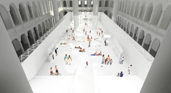 Rendering of THE BEACH at the National Building Museum (Courtesy Photo)