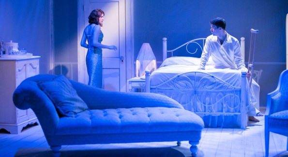 Brianna Letourneau & Kevin Hasser in 'Cat on a Hot Tin Roof.' (Photo by C. Stanley Photography)