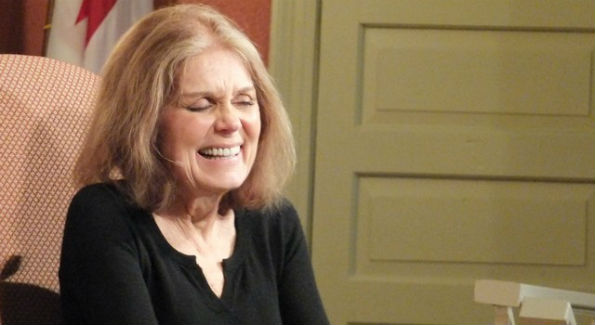 gloria steinem laughing