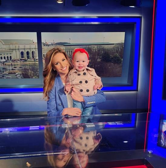 Fox News Channel's Kristin Fisher and daughter Clara