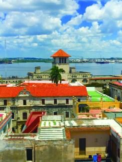 Cuba rooftop view