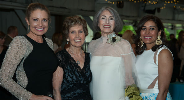 Rebecca Cooper (Emcee), Ambassador Connie Morella (Honorary Gala Chair), Carol Trawick (Honoree), and Anjali Varma (Gala Chair)