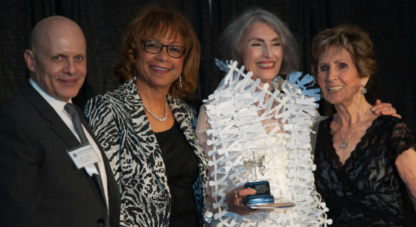 Jeffrey Slavin (Honorary Gala Chair), Montgomery County First Lady Catherine Leggett (Honorary Gala Chair), Carol Trawick (Honoree), and Ambassador Connie Morella (Honorary Gala Chair)