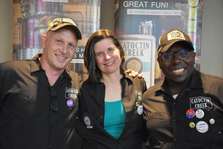 Scott Harris, Becky Harris and Chad Robinson of Catoctin Creek Distilling Company. Photo credit Scott Harris.