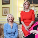 Susanna Quinn, Sally Quinn, Rep. Debbie Dingell and Esther Coopersmith in Coopersmith's Kalorama home.