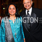 Photo by Tony Powell. Amita and Natwar Gandhi. Arena Stage Opening Gala Celebration. Mead Center. October 25, 2010