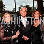 Photo by Tony Powell. Sara Jo Kobacher, David and Peggy Shiffrin. Arena Stage Opening Gala Celebration. Mead Center. October 25, 2010