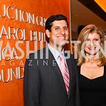 Photo by Tony Powell. Vivek Kundra, Arianna Huffington. Fed Talks 2010. Harman Center. October 12, 2010