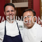 Photo by Alfredo Flores. Daniel Boulud, Cathal Armstrong.  An International Evening of Excellence In Honor of Global Kids in D.C. at the Residence of the French Ambassador. December 12, 2010