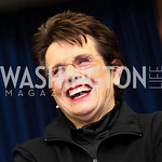Photo by Tony Powell.  Billie Jean King. WTT VIP Reception with Elton John. Bender Arena. November 15, 2010