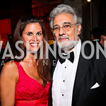 Michelle Freeman, Placido Domingo. Photo by Tony Powell. Opera Ball. Embassy of China. May 7, 2011