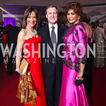 Barbara Harrison, William Cohen and Janet Langhart Cohen. Photo by Tony Powell. Opera Ball. Embassy of China. May 7, 2011