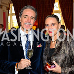 Francisco and Rebecca Bernot. VIP reception for Relais & Chateaux Hotels. Photo by Tony Powell. French Ambassador's residence. March 28, 2011