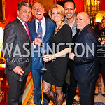 Bruce Neal, Patrick O'Connell, Rachel Hayden, Greg Lopez, David Hagedorn. VIP reception for Relais & Chateaux Hotels. Photo by Tony Powell. French Ambassador's residence. March 28, 2011
