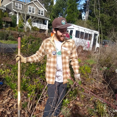 WSC member Miguel serving with Earth Service Corps in Seattle
