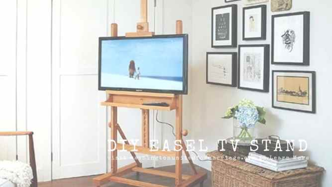DIY Easel TV Stand