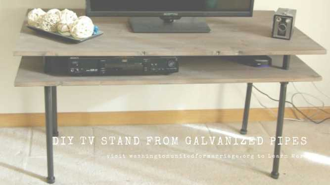 DIY TV Stand from Galvanized Pipes