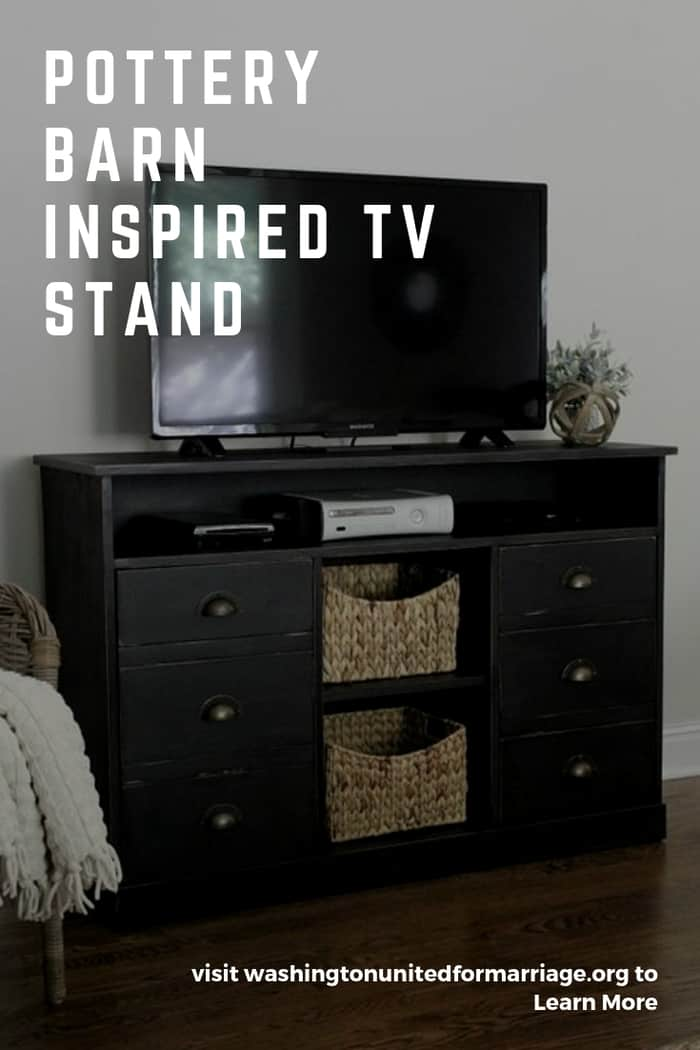 Pottery Barn Inspired TV Stand