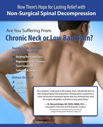 decompression therapy flyer