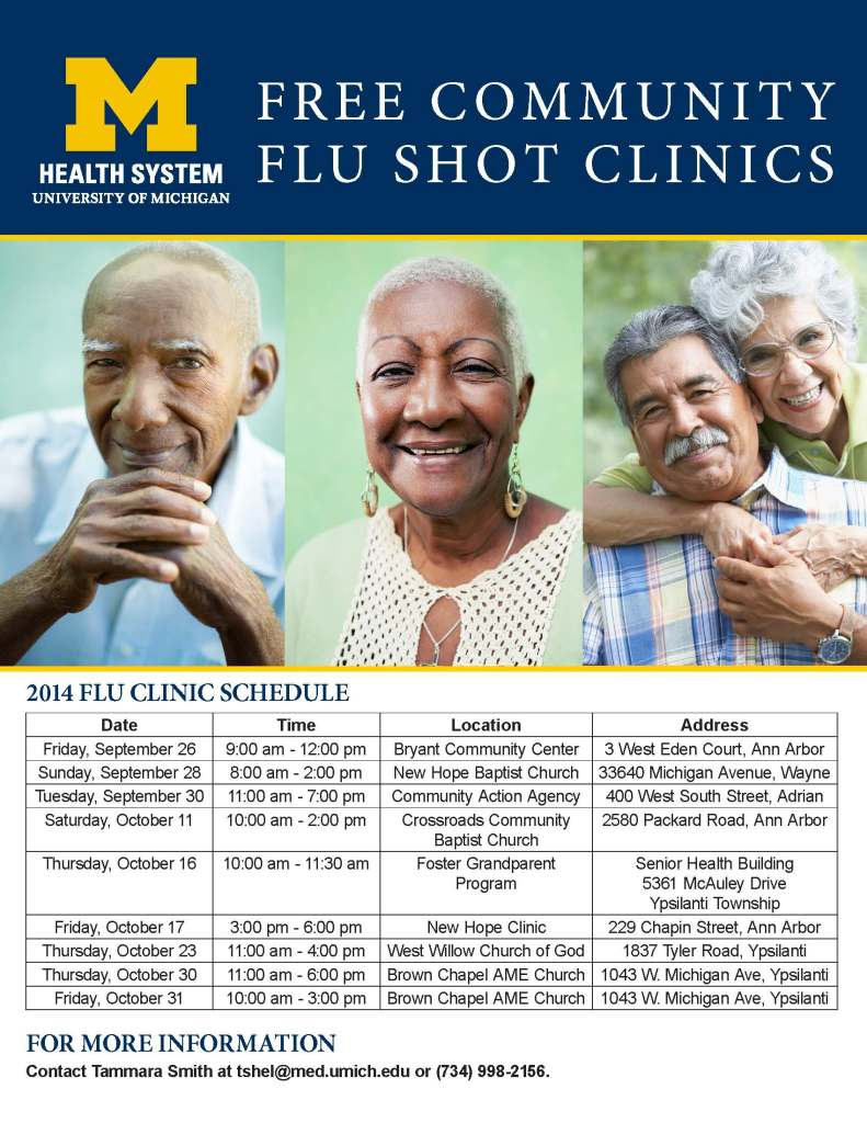 2014 - UMHS Flu Clinics - Master List