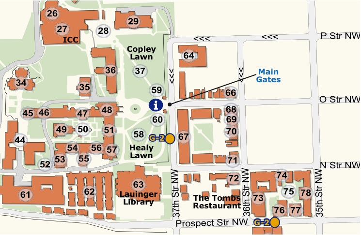 Georgetown Law Campus Map.Law Center Georgetown Campus Map