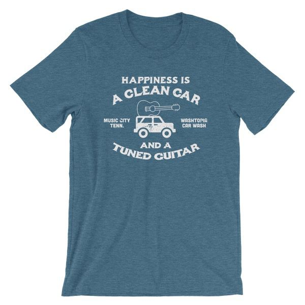 """""""Happiness is a Clean Car..."""" Washtopia T-Shirt (Teal)"""