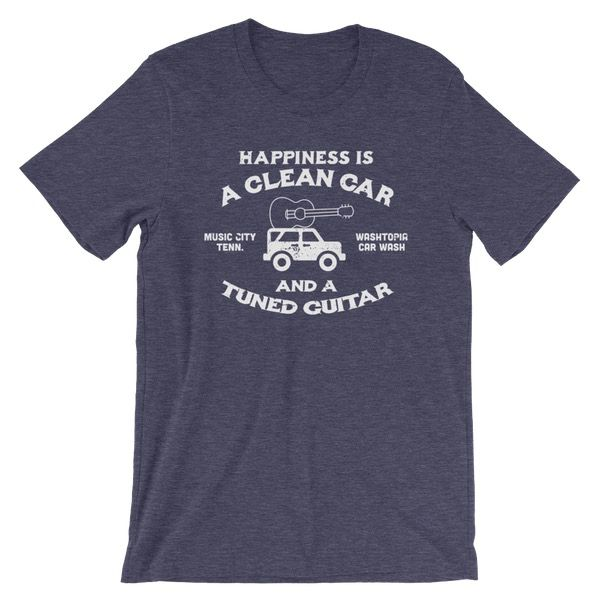 """""""Happiness is a Clean Car..."""" Washtopia T-Shirt (Navy)"""