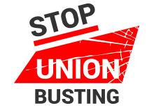 Stop Union Busting Logo i-sec