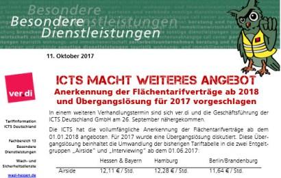 ICTS macht weiteres Angebot