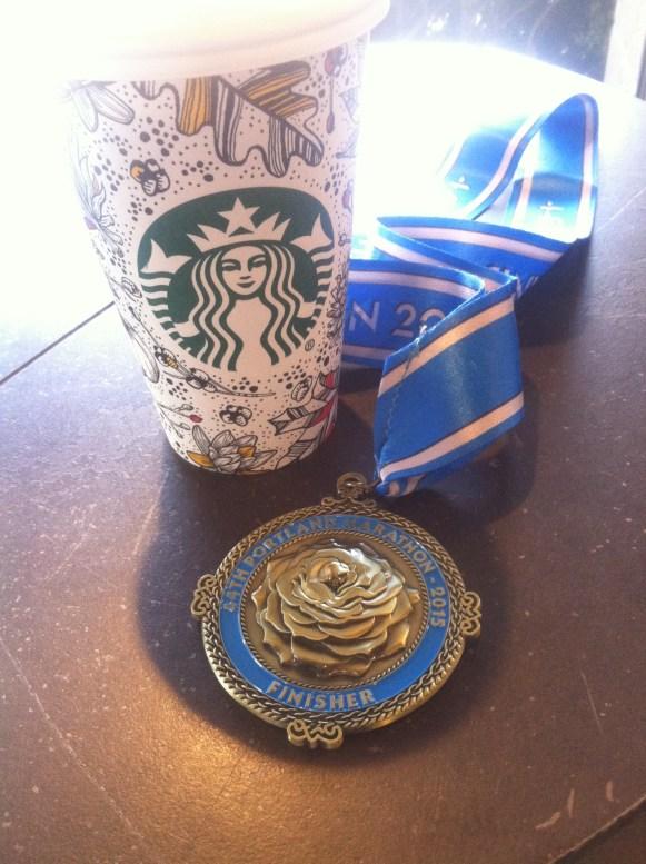 Post-marathon latte.