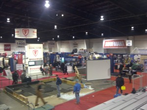 Panoramic view of part of ROOFTech 2013, the premier Canadian roofing expo and conference.